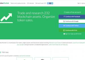 Capture d'écran de TokenMarket